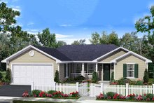 Home Plan - Ranch Exterior - Front Elevation Plan #21-327