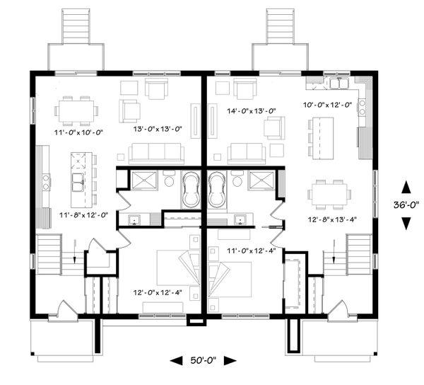 House Plan Design - Modern Floor Plan - Main Floor Plan #23-2673