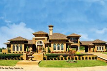 Architectural House Design - Mediterranean Exterior - Front Elevation Plan #930-57