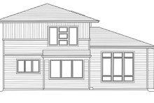 Architectural House Design - Contemporary Exterior - Rear Elevation Plan #46-893