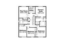 Colonial Floor Plan - Upper Floor Plan Plan #124-958