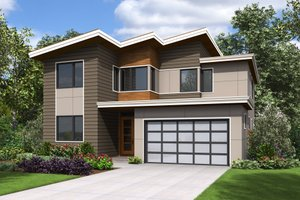 Contemporary Exterior - Front Elevation Plan #48-676