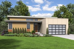 Contemporary Exterior - Front Elevation Plan #48-668