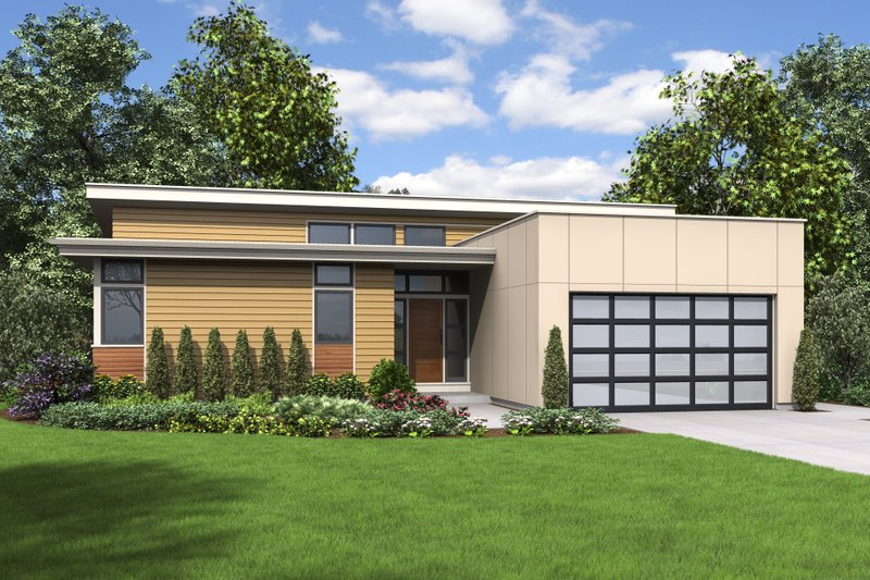 Home Plan - Contemporary Exterior - Front Elevation Plan #48-668