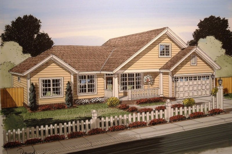 Traditional Style House Plan - 3 Beds 2 Baths 1477 Sq/Ft Plan #513-17
