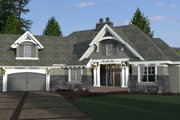 Craftsman Style House Plan - 4 Beds 3 Baths 2341 Sq/Ft Plan #51-573 Exterior - Other Elevation