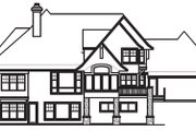 Craftsman Style House Plan - 5 Beds 4 Baths 5077 Sq/Ft Plan #56-592 Exterior - Rear Elevation
