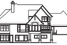 Craftsman Exterior - Rear Elevation Plan #56-592