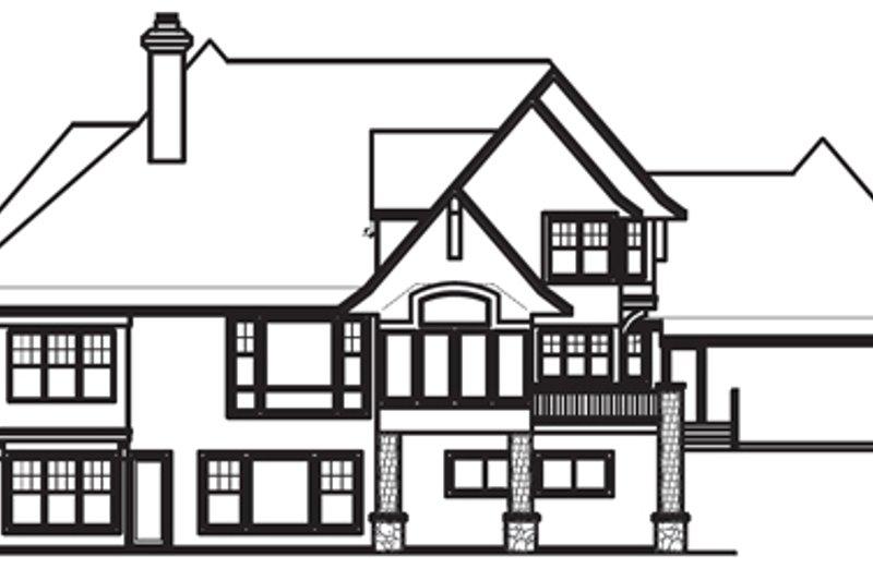 Craftsman Exterior - Rear Elevation Plan #56-592 - Houseplans.com