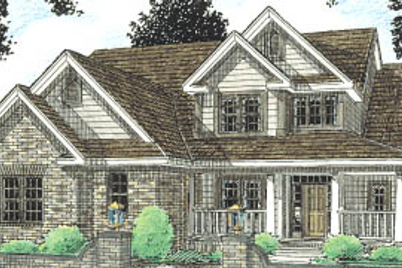 Architectural House Design - Traditional Exterior - Front Elevation Plan #20-230