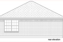 House Design - Beach Exterior - Rear Elevation Plan #84-536