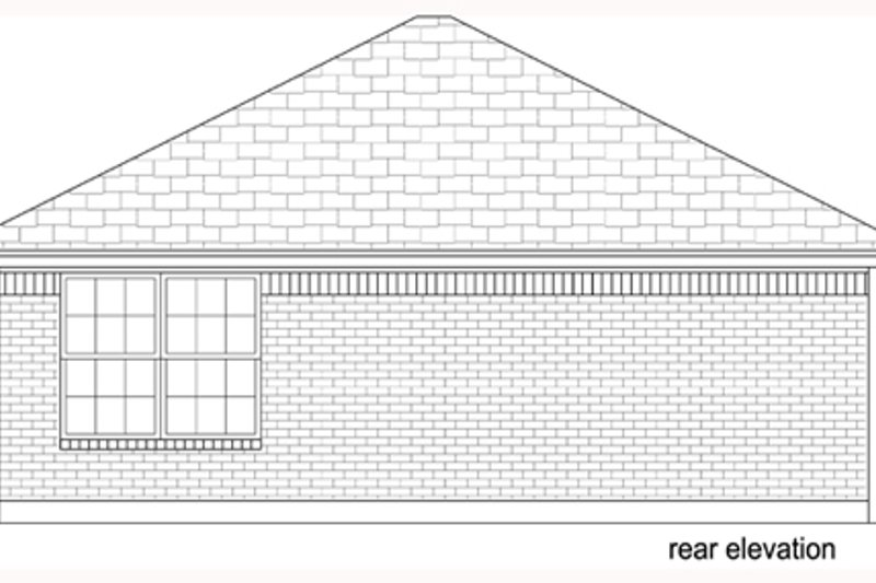 Beach Exterior - Rear Elevation Plan #84-536 - Houseplans.com