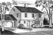 House Blueprint - Colonial Exterior - Front Elevation Plan #72-211