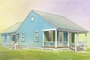 Cottage Style House Plan - 3 Beds 2 Baths 1112 Sq/Ft Plan #514-15 Photo