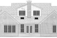 Southern Exterior - Rear Elevation Plan #406-115