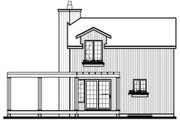 Contemporary Style House Plan - 2 Beds 1.5 Baths 1056 Sq/Ft Plan #23-2035 Exterior - Rear Elevation