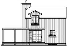 Home Plan - Contemporary Exterior - Rear Elevation Plan #23-2035