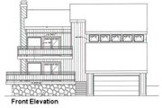 Contemporary Style House Plan - 3 Beds 2 Baths 1871 Sq/Ft Plan #116-107 Exterior - Other Elevation