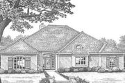 Traditional Style House Plan - 3 Beds 2 Baths 1897 Sq/Ft Plan #310-300 Exterior - Front Elevation