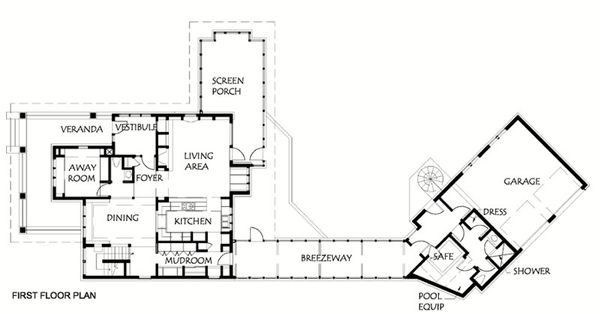 Prairie Floor Plan - Main Floor Plan Plan #454-6
