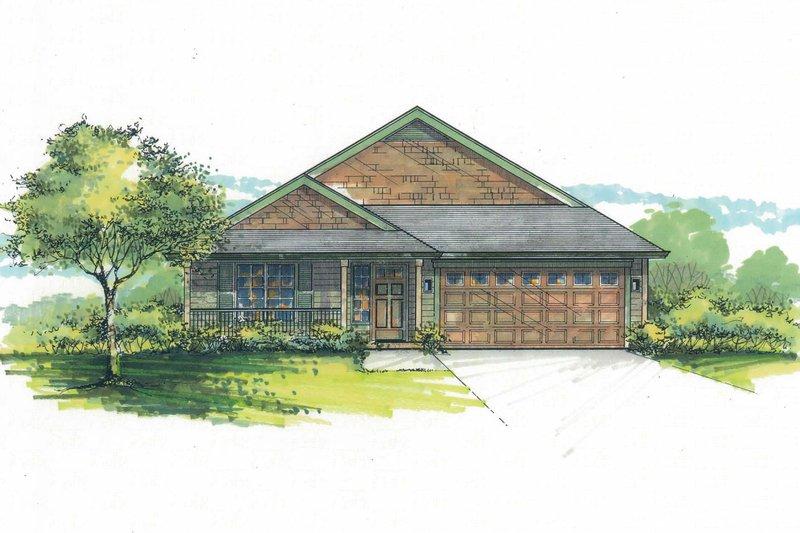 Craftsman Exterior - Front Elevation Plan #53-600