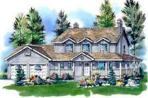 Country Exterior - Front Elevation Plan #18-341