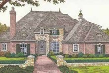 European Exterior - Front Elevation Plan #310-511
