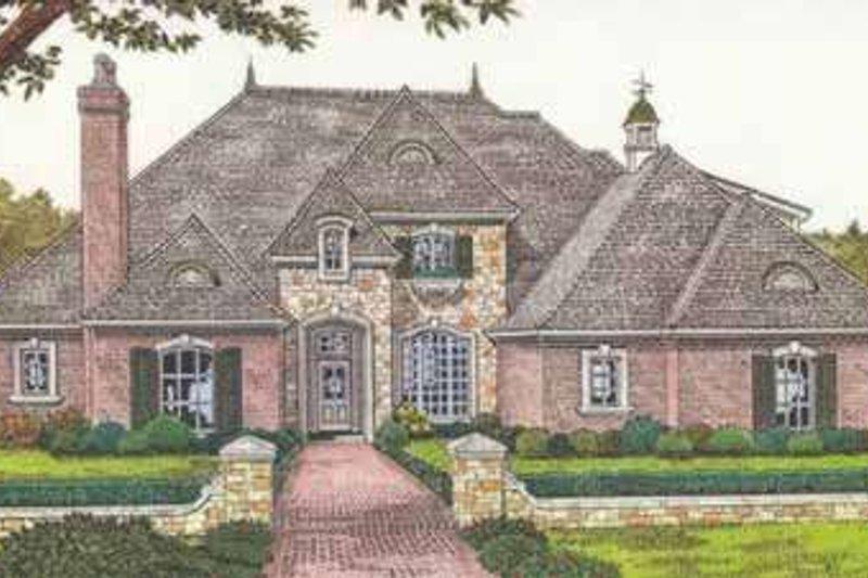 Home Plan - European Exterior - Front Elevation Plan #310-511
