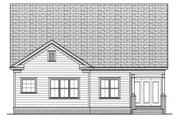 Victorian Style House Plan - 2 Beds 2 Baths 1958 Sq/Ft Plan #413-791 Exterior - Rear Elevation