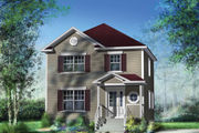 Traditional Style House Plan - 3 Beds 1 Baths 1352 Sq/Ft Plan #25-4414 Exterior - Front Elevation