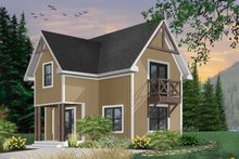 Country Exterior - Front Elevation Plan #23-2026