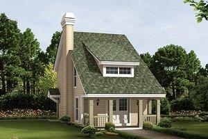 Cottage Exterior - Front Elevation Plan #57-384