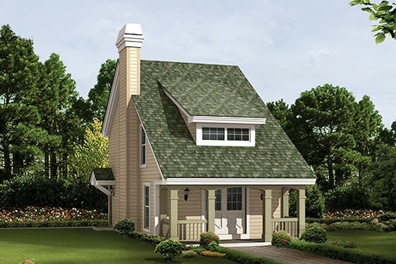 Cottage Style House Plan - 2 Beds 1.5 Baths 1131 Sq/Ft Plan #57-384 Exterior - Front Elevation