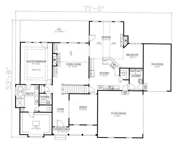 Traditional Floor Plan - Main Floor Plan Plan #437-118