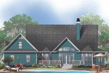 Home Plan - Farmhouse Exterior - Rear Elevation Plan #929-553