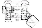 Craftsman Style House Plan - 4 Beds 4.5 Baths 4419 Sq/Ft Plan #921-10 Floor Plan - Main Floor