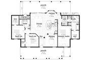 Farmhouse Style House Plan - 4 Beds 2 Baths 1608 Sq/Ft Plan #45-597 Floor Plan - Main Floor
