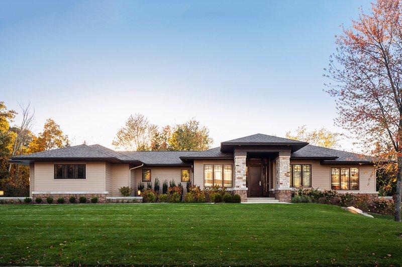 House Plan Design - Prairie Exterior - Front Elevation Plan #928-279
