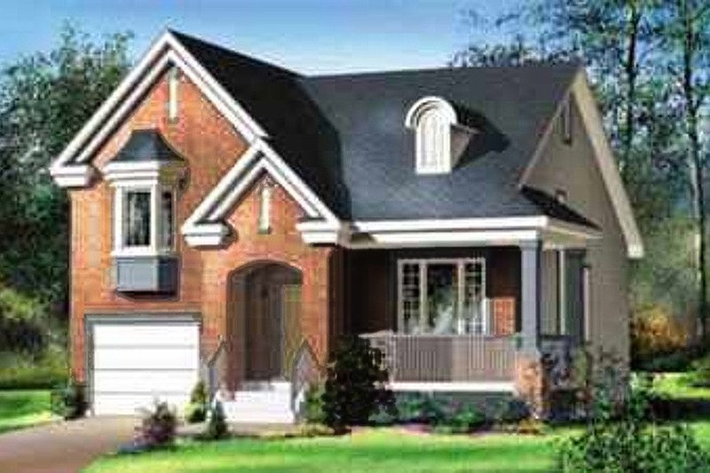 European Style House Plan - 2 Beds 2 Baths 1514 Sq/Ft Plan #25-318 Exterior - Front Elevation