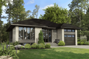 Contemporary Exterior - Front Elevation Plan #25-4917