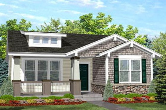 Bungalow Exterior - Front Elevation Plan #50-122
