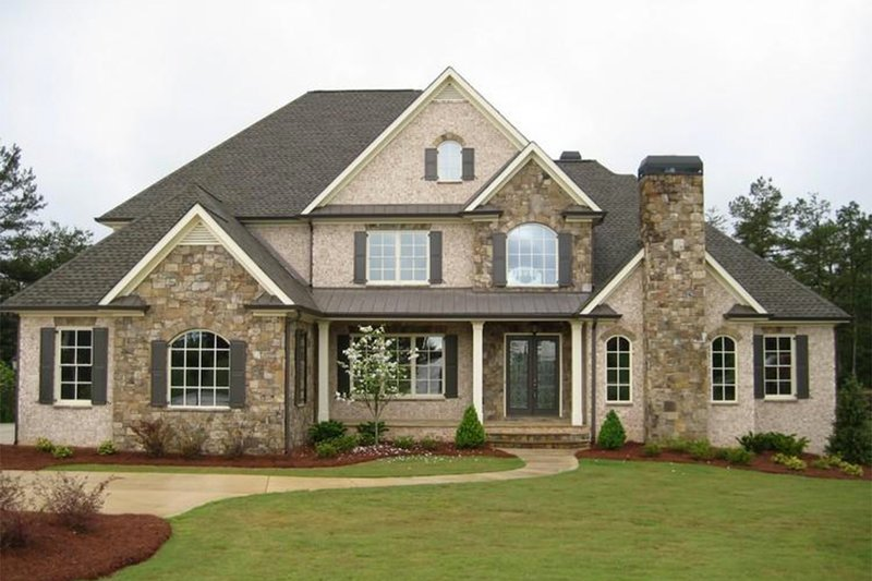 Traditional Exterior - Front Elevation Plan #437-49 - Houseplans.com