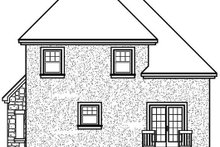 Home Plan Design - European Exterior - Rear Elevation Plan #23-281