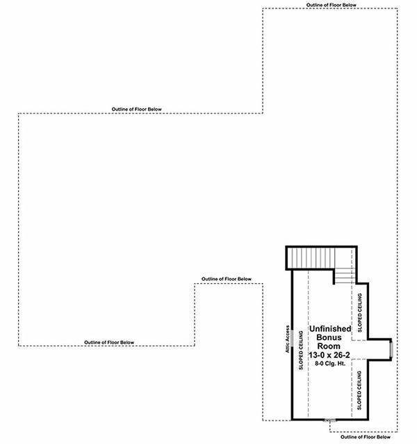 Country Floor Plan - Upper Floor Plan Plan #21-287