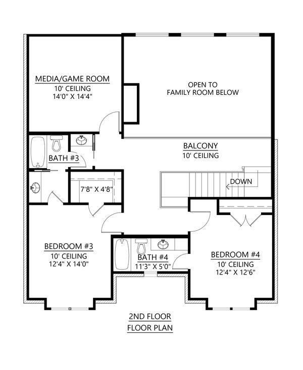 Architectural House Design - Modern Floor Plan - Upper Floor Plan #1074-41
