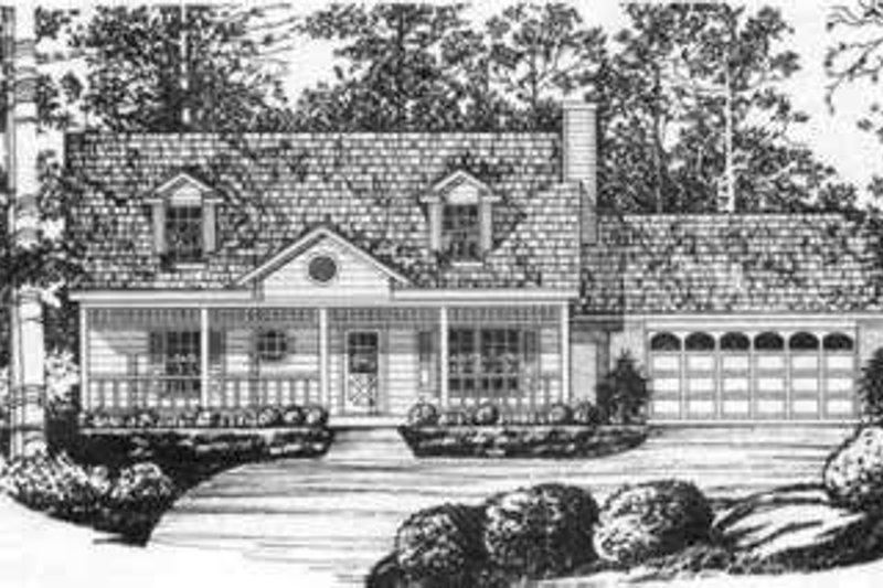 Southern Exterior - Front Elevation Plan #40-347 - Houseplans.com