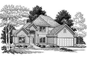 Traditional Exterior - Front Elevation Plan #70-353