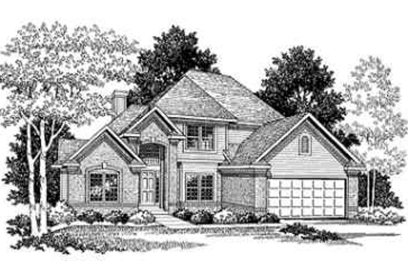 Traditional Exterior - Front Elevation Plan #70-353 - Houseplans.com