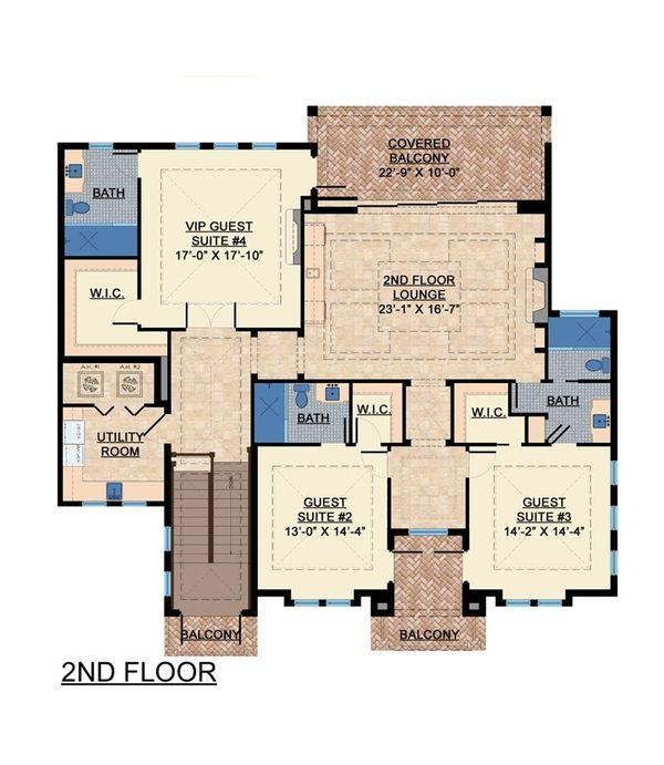 Contemporary Floor Plan - Upper Floor Plan #548-24