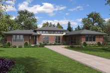 Dream House Plan - Contemporary Exterior - Front Elevation Plan #48-958